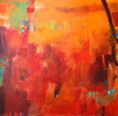 When Morning Breaks - Original Abstract Painting by Texas Contemporary Artist Filomena de Andrade Booth, painting by artist Filomena Booth
