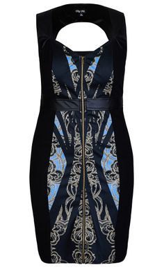 Think this can be so sexy on  City Chic - SPLICED DECO LACE DRESS  - Women's Plus Size Fashion