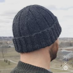 a3819509b62 A classic ribbed toque reminiscent of the sailor s Watch Caps of WWII. free pattern  Beanie