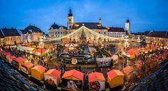 Unveil the best Christmas Markets in Romania. Transylvania's medieval cities lead the race, with Sibiu fighting Alba Iulia & Brasov for place. Christmas In Europe, Best Christmas Markets, Merry Christmas, Places Around The World, Around The Worlds, Winter Travel, Paris Skyline, Dolores Park, France