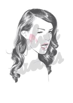 lana del rey / rosy cheeks a4 print by velvetwolves on Etsy