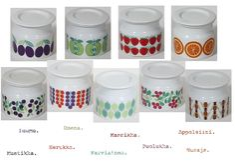 Raija Uosikkinen - Pomona - Arabia Different Fruits, Fruit Pattern, Tutti Frutti, Dog Bowls, Blueberry, Strawberry, Porcelain, Jar, Apple