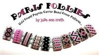 Julie Ann Smith Designs - PARIS FOLLIES - Odd Count Peyote Carrier Bead Cover - Bead Kit and Components