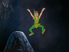 Production Cel and Master Background of Peter Pan From Peter Pan