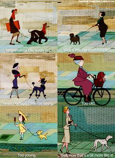 101 Dalmatians......woah!!!!!!!! It's like New York!!!!!! All the people look like their dogs!!!!!!!!!!!!!!!!