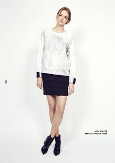 Look 27  http://www.oxygenboutique.com/Galileo-Jumper.aspx  http://www.oxygenboutique.com/rebecca-taylor.aspx