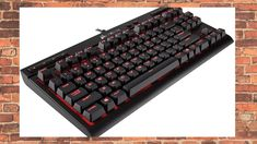 Corsair Compact Mechanical Gaming Keyboard – Backlit Red LET – Linear & Quiet – Cherry MX Red Macro Program, Speed Games, Dramatic Lighting, Usb, Red Led, Logitech, Computer Accessories, Computer Keyboard, Compact