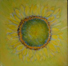 Zonnebloem, acryl op doek, 2002