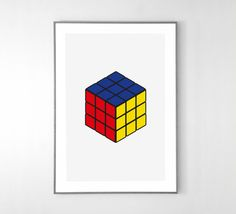 Rubiks Cube Poster BIG POSTER 19x13 inches on by loscadotte