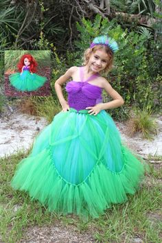 The little mermaid tutu dress the little mermaid dress ariel princess ariel inspired matching girl and by twinklestarphotoprop solutioingenieria Image collections