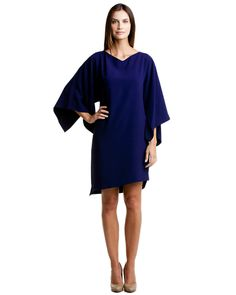 "Elie Tahari ""Patsy"" Grape Harvest Kimono Sleeve Dress"