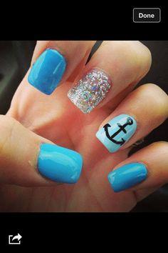 Blue nails :)