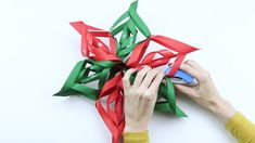 Stuff I Should Make Someday How to Make a Paper Snowflake: 12 Steps (with Pictures) Paper Snowflake Patterns, 3d Paper Snowflakes, Snowflake Craft, Office Christmas, Christmas Diy, Snowflakes For Kids, Paper Christmas Decorations, Snow Flakes Diy, Paper Flowers