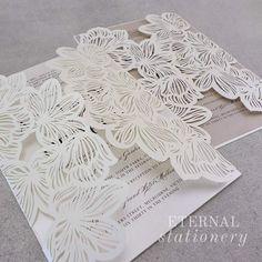 Laser cut Wedding Invitation Created by Eternal Stationery www.eternalstationery.com.au