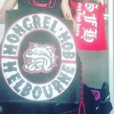 "Kingston Gye on Instagram: ""MONGREL MOB TOP ROCKER... HAVE A ROCKING DAY GOING TO THE TOP WONT STOP.. REDNATION #mongrelmob #melbourne"" Mongrel, Biker Clubs, Kingston, New Zealand, Day, Melbourne, Instagram, Pictures"