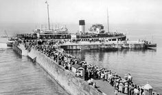 Old photograph of people on the pier at Largs in Ayrshire , Scotland . The pier was constructed in Largs was originally a centre for . Photographs Of People, Old Photographs, Old Photos, Seaside Resort, Arran, Glasgow, Scotland, Dolores Park, Scenery