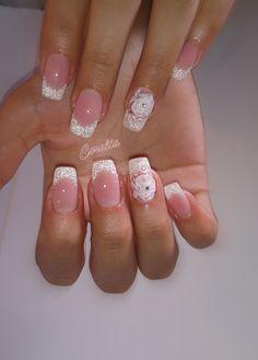 Bride nails Bride Nails, Hair And Nails, Beauty, Bridal Nails, Beauty Illustration