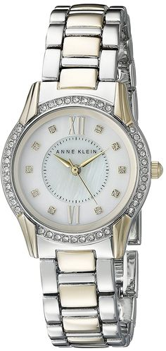 Anne Klein Women's AK/2161MPTT Swarovski Crystal Accented Two-Tone Bracelet Watch *** Check out the watch by visiting the link.