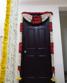 When you're looking for flower decorators in Hyderabad or Wedding Stage Decoration, choose the best professionals. Mars Event Planner would help make your perfect celebration happen in a unique and luxurious style. Door Flower Decoration, Home Flower Decor, India Wedding, Home Wedding, Housewarming Decorations, Wedding Doors, Ethnic Home Decor, Wedding Stage Decorations, Entrance Decor