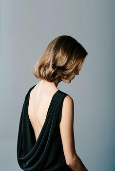 DIY Faux Bob Wedding Hairstyle for Long Hair #fauxbob #weddinghair #hairstyle #weddinghairstyle