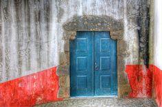 HDR Turquoise Door in Òbidos, Portugal.   Pamela Bevelhymer