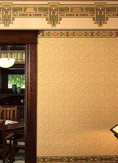 Craftsman Style Design Art Wallpaper | Thatch | Bradbury & Bradbury