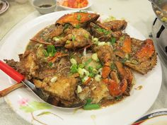 stir fried crab with glass noodles   Taiwanese food