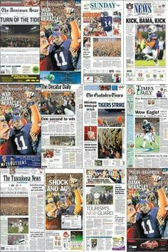 Newspapers across America featuring the INCREDIBLE ending to a famous rivarly! #IronBowl2013