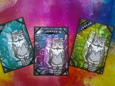 Owls stampset by Art Journey.