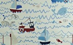 Draperie copii barcute 5719-721 WAVES MARINE Waves, Flooring, Design, Art, Art Background, Kunst, Wood Flooring, Ocean Waves