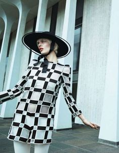 The Vogue Japan A Graphic Study Editorial is MOD-Inspired #fashion trendhunter.com