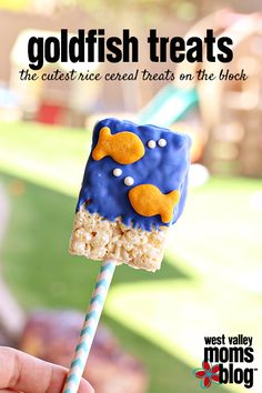 Goldfish Rice Cereal Treats