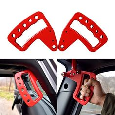 New Front Black/Red Aluminum Grab Handle for Jeep Wrangler JK JKU Unlimited Rubicon Sahara X Off Road Sport Interior Accessories Jeep Jk, Jeep Gear, Jeep Truck, Ford Trucks, Jeep Wrangler Accessories, Jeep Accessories, Interior Accessories, Range Rover Classic, Jeep Wrangler Rubicon