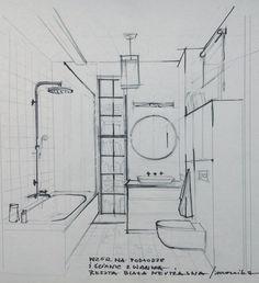 sketch of the bathroom
