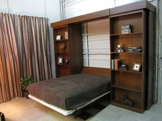 Library murphy bed for our future combo play room/guest room.