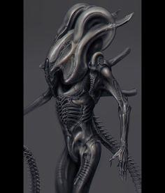 A completed 2D concept-art for Alien King. Happy 4/26!  #xenomorph #alienday #giger #gigerfanart #426 #alien by vitalybulgarov