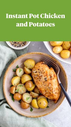 Quick and easy Instant Pot chicken recipe is a quick weeknight dinner recipe for the whole family #instantpot #chicken #chickenrecipes #potatoes #quickdinner Quick Family Meals, Quick Weeknight Dinners, Quick Meals, Slow Cooker Pressure Cooker, Instant Pot Pressure Cooker, Freezer Friendly Meals, Everyday Food, Slow Cooker Recipes, Chicken Recipes
