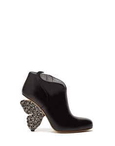 FLUTTERBY HIGH ANKLE BOOTS IN LEATHER WITH SWAROVSKI STONES - Shoes Woman - Alberto Guardiani