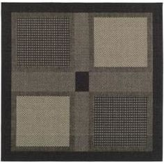 Shop for Safavieh Lakeview Black/ Sand Indoor/ Outdoor Rug (6' 7 Square). Get free shipping at Overstock.com - Your Online Home Decor Outlet Store! Get 5% in rewards with Club O! - 13111069
