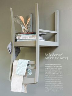 Diy Furniture Kitchen How To Make - New ideas Furniture Inspiration, Room Inspiration, Wall Shelves, Shelving, Diy Interior, Interior Design, Diy Regal, Ladder Decor, Diy Home Decor