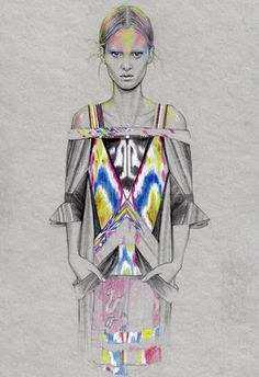fashion illustration by Cédric Rivrain. Fashion Illustration Sketches, Fashion Sketchbook, Art Et Illustration, Fashion Sketches, Fashion Drawings, Mode Costume, Fashion Art, Fashion Design, Trendy Fashion