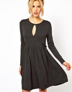 ASOS Smock Dress With Long Sleeves - Grey / UK 10£10.00 14/02/2013