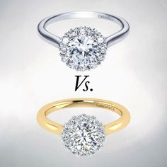 Gabriel & Co. white or yellow gold diamond #engagement #ring