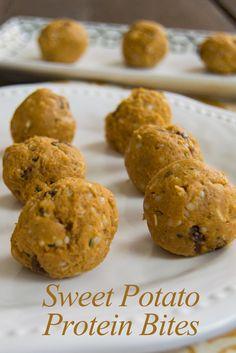 Sweet Potato Protein Bites - super easy, sweet, protein packed snacks. No bake! Vegan, gluten free