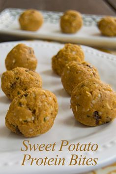 Sweet Potato Protein Bites -  easy, healthy recipe. This no bake protein packed snack is vegan and gluten free.