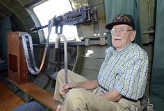 , and a commander for Bomb Group USAAC Air Force Earl M. Morrow, of Granville enjoys ride during a flight on Memphis Belle at Albany International Airport Monday, August 2013 in Colonie.Carras/The Record) Memphis Belle, Tan Pants, My Hero, Air Force, Button Up Shirts, Captain Hat, International Airport, Community, Group
