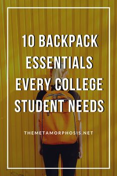 Ready to start your back to school shopping? Here are 10 backpack essentials college students can't forget! College Freshman Tips, College Packing Lists, Back To College, College List, Scholarships For College, College Fun, College Students, College Hacks, College Agenda