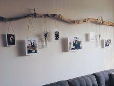Branche de décoration artisanale avec photos et pots de fleurs. #basteln #b ... - maison décoration