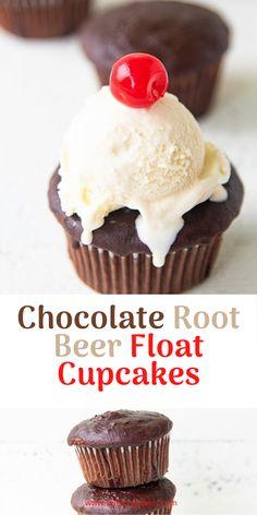 Kid Cupcakes, Baking Cupcakes, Cupcake Cakes, Root Beer Cupcakes, Cup Cakes, Cupcake Flavors, Cupcake Recipes, Baking Recipes, Sweets Recipes