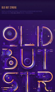 Old But Strong on Behance Typography Fonts, Typography Design, Lettering, Pop Design, Cover Design, Typography Inspiration, Graphic Design Inspiration, Typo Poster, Picture Design